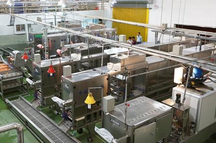 Dây chuyền sản xuất thạch rau câu khép kín bằng máy móc